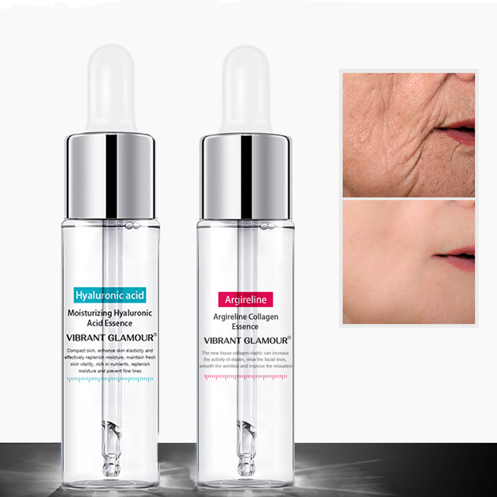 Facial Anti-Aging Wrinkle Hydrating Essence Hyaluronic Collagen Peptides Acid Face Lifting Firming Moisturizing Skin Care Serums