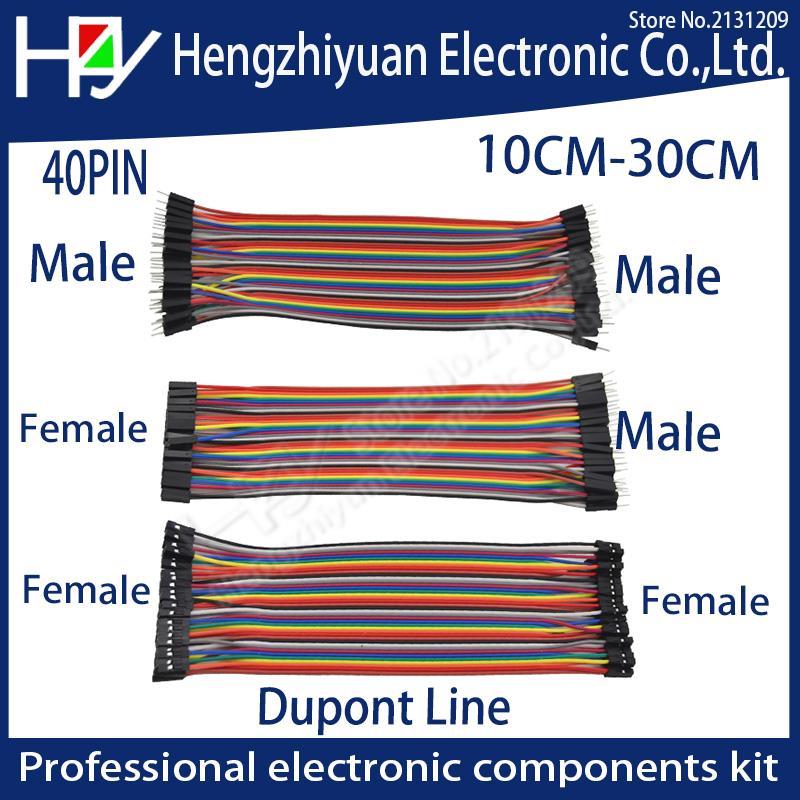 3kit 40PIN Linha Dupont 10 CM 20 CM 30 CM Macho para Macho + Fêmea para Macho e Fêmea para cabo Dupont Jumper fêmea para PCB DIY