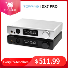 Topping DX7 Pro ES9038Pro DAC Headphone amp bluetooth 5.0 32BIT/768kHz DSD1024 Wireless Decoder Headphone Amplifier
