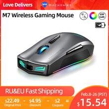 Mouse per Mouse da gioco Wireless machoike M7 Gamer 16000 DPI RGB ricaricabile programmabile PMW3212 PMW3335 Mouse per Computer