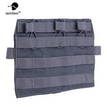 Tactical Nylon Triple Magazine Pouch 5.56 M4 MOLLE Panel Flap Detatchable Front Plate AVS JPC Vest Airsoft Hunting Accessories