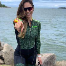 XAMA cycling long sleeve shorts women skinsuit