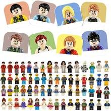 100 adet/grup eylem rakamlar blokları eğitim inşaat yapı tuğla oyuncaklar Set çocuk oyuncakları hediye için