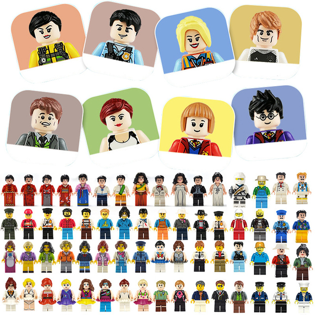 $ US $25.55 100pcs/lot Action Figures Blocks Educational Construction Building Bricks Toys Set For Children Toys Gift