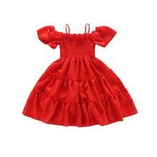 Летнее платье для девочек с принтом модная Милая Одежда принцесс