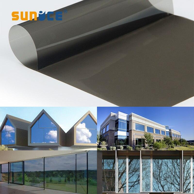 60 pouces x 100 pieds/1.52x30 m 35% VLT Film de fenêtre de voiture noir Nano céramique teinte solaire Film de fenêtre contrôle de chaleur Anti-UV feuilles de voiture