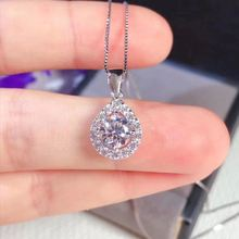 Classic 1ct Carat Moissanite Pendant Necklace Waterdrop S925 Silver D Color Vvs Pendants for Women with GRA Certificate