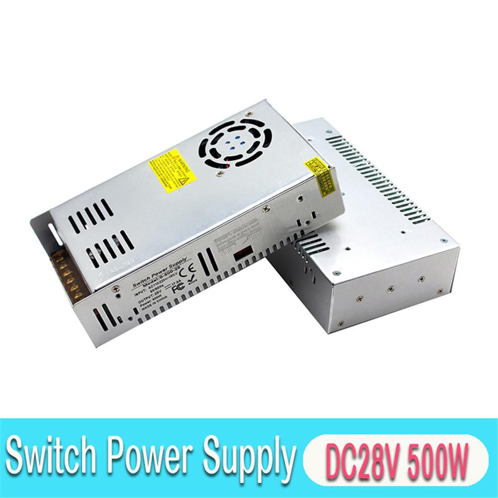 28V 17.9A 500W Switching Power Supply DC Driver Transformers AC110V 220V TO DC28V SMPS for Lighting Printer CNC Stepper Machine