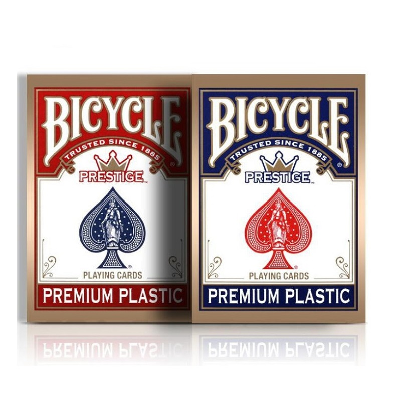 Bicycle Prestige Playing Cards Small Size Poker Red/Blue Premium Plastic Dura Flex Deck Magic Cards Magic Tricks Magic Props
