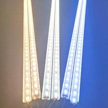 1-28pcs/Lot 50cm perfil aluminio LED rigid light bar DC12V 5730 36LEDs led cover aluminum channel Home decoration lighting