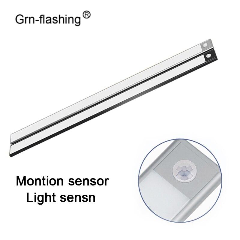 60cm Ultra-mince mode LED sous le Cabinet 103 LED s USB recharge capteur de mouvement placard lampes murales pour éclairage de garde-robe de cuisine