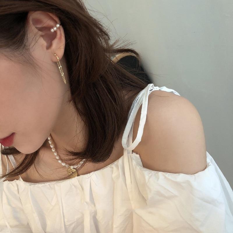 Женские серьги подвески mengjiqiao простые акриловые с металлической