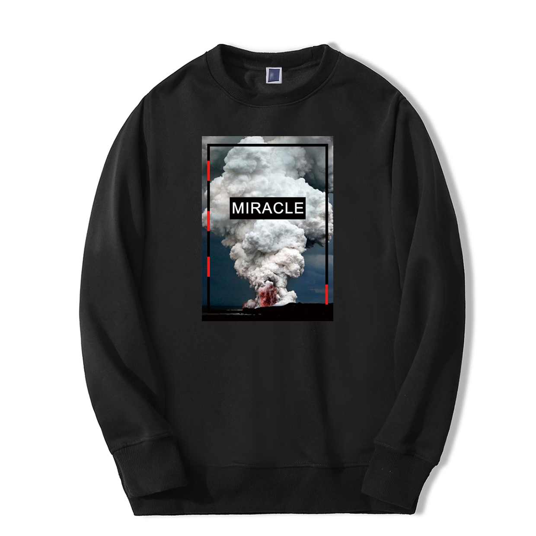 2019 New Arrival Print Sweatshirts Hoodie Mens Fashion Volcanic Eruption Tracksuit Casual Hip Hop Streetwear Fitness Sportswear