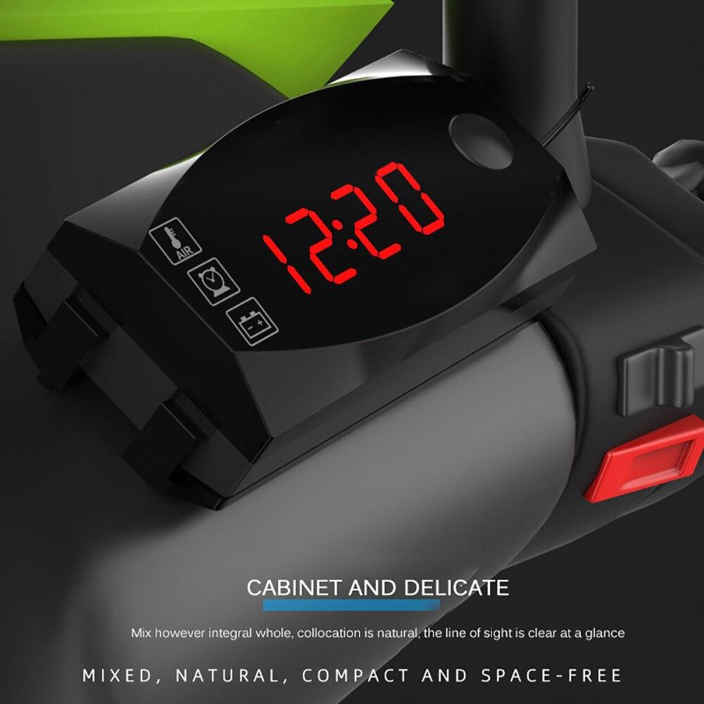 2019 Nouveau 12V 3 dans 1 affichage LED numérique Mètres Voltmètre Horloge Thermomètre Indicateur Compteur Pour Voiture Moto