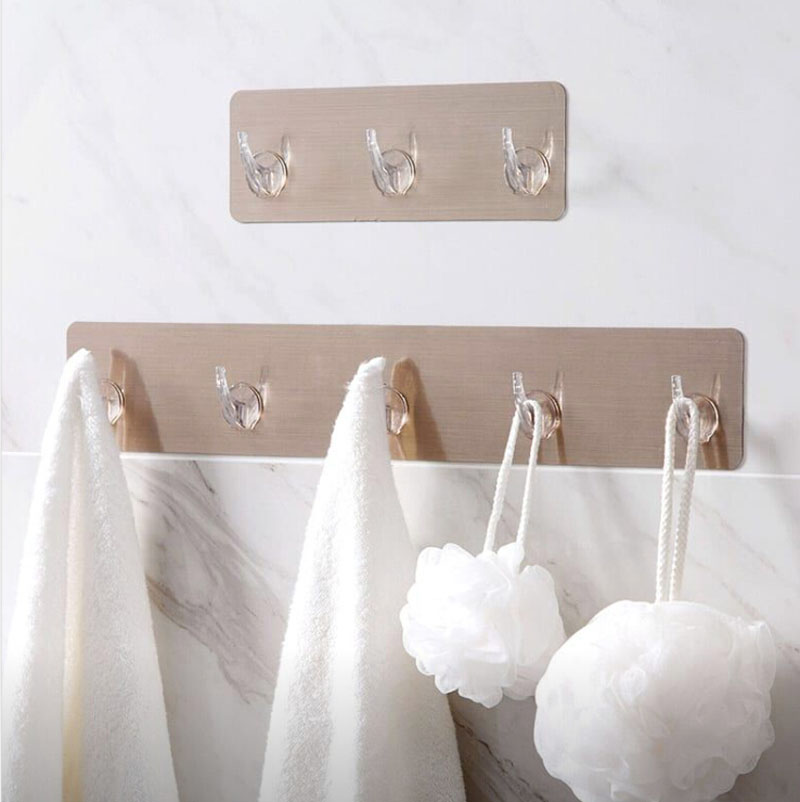 Strong Paste Hook Kitchen Bathroom Wall Hook Wall Surface Free Punching Hook Hook