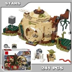 241 peças espaço guerras yoda hut santuário império atinge jedi 10904 modelo blocos de construção crianças brinquedos tijolos compatíveis com