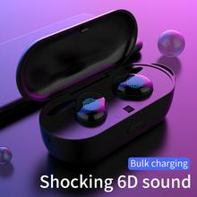 TWS Bluetooth 5.0 Wireless Earphone Auto Pairing Noice Reduction with Charging box