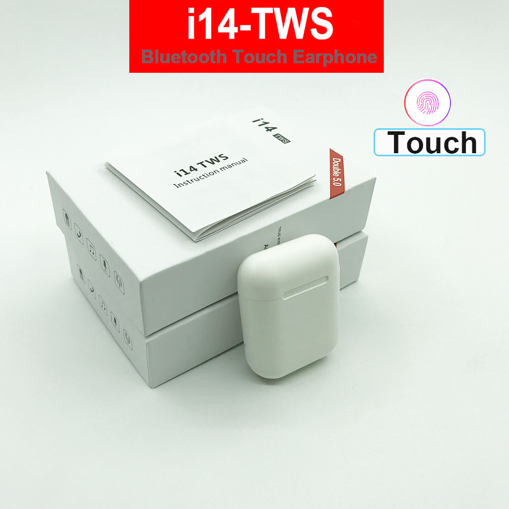 i14 <font><b>TWS</b></font> bluetooth earphones wireless touch control headset pop up earbud i14tws not w1 chip replica <font><b>tws</b></font> i10 i7s i12 i20 i18 i60 image