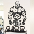 Bodybuilding Gym Inspirational Vinyl Wall Stickers Workout Muscle Sports Athletic Bodybuilding Fitness Fan Gift Decorative Decal