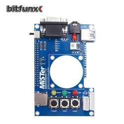 Porta vga analógica da saída de vídeo da placa de bitfunx io com rgbhv/rgbs/ypbpr para a placa de substituição do porto do fone de ouvido do senhor fpga 3.5mm