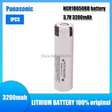 1 pçs original novo panasonic ncr18650bd 3.7v 3200mah 18650 bateria recarregável de lítio ncr 18650bd para células de lanterna portátil