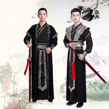 Hanfu Robe Ancient Chinese Costume Men Performance Outfit Traditional National Tang Dynasty Swordsman Cosplay Wear