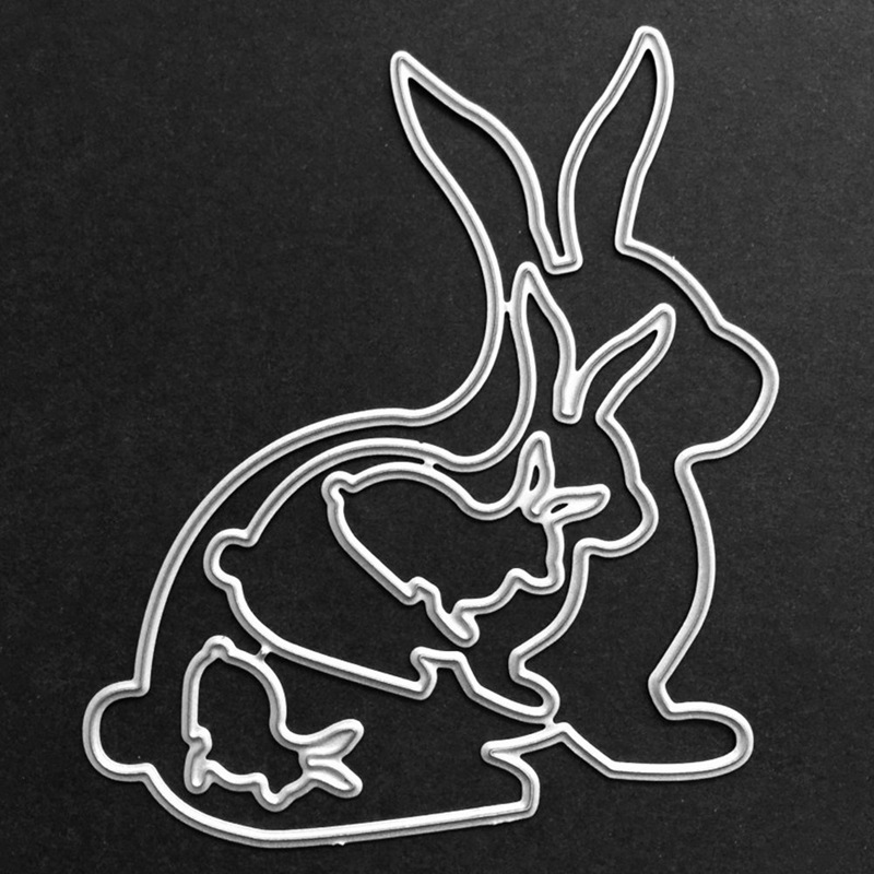 Easter Bunny Cutting Of New Arrival Card Paper Embossing Scrapbooking Craft Diy Photo Album  Rabbit Cutting Dies