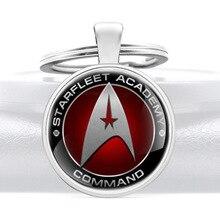 Classic Fashion Starfleet Academy Command Pendant Key Rings Men Women Charm Keychains