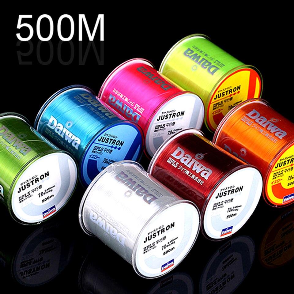 Alta qualidade múltipla cor 500m super forte linha de pesca japão monofilamento náilon linha de pesca 2-35lb