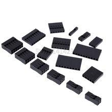 Venda quente dupont escudo plástico 2.54mm único/duplo fileira dupont conector 1 p/2 p/3 p/4 p/5 p/6 p/7 p/8 p/9 p/ 10P 2*4pin/2 * 5pin Habitação