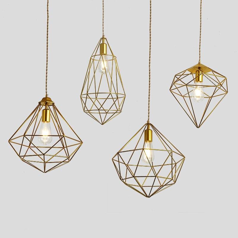 Nordic Industrial Style Pendant Lights Retro Modern Simple Luminaria Bar Restaurant Living Room Study Garage Hanglamp Lustres|Pendant Lights| |  - title=