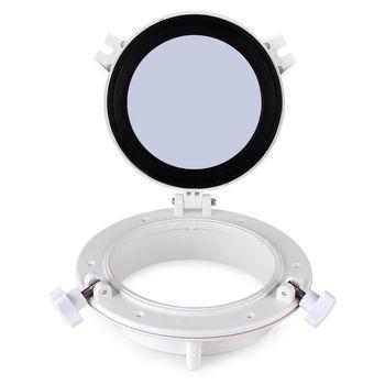 215mm Round Porthole Lighting Ventilation Yacht RV Hatch Window Portlights RV Parts
