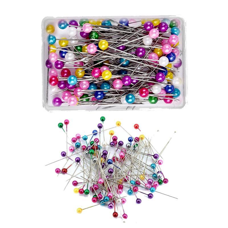 38 мм 100/200 шт мульти-Цвет швейная Шпильки Круглый жемчужной головкой булавки для шитья Свадебный корсаж семена цветов швейная Pin с коробкой