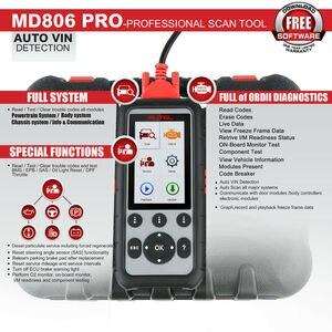 Image 2 - Autel MD806 Pro Tất Cả Các Hệ Thống Tự Động Công Cụ Chẩn Đoán, mã Máy Quét Toàn Hệ Thống Chẩn Đoán EPB/Tinh Dầu Thiết Lập Lại/BMS DPF VS MD805 MD802