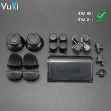 YuXi – jeu de 16 boutons en option, pour Sony Playstation Dualshock 4 PS4, capuchons de Joystick L1 L2 R1 R2, boutons d-pad