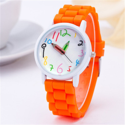 The New  White Oil Casing  The Silicone  Children Watch  Pointer To A Pencil  Kids Watches