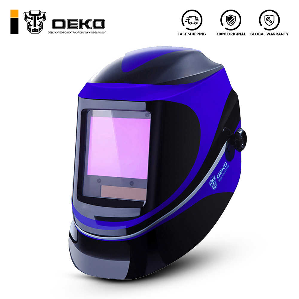Red Welding Mask Auto Darkening Hand-Held Pro Welder Protective Welders gear