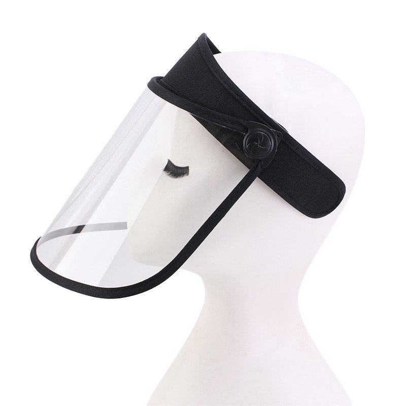 Transparent Face Shield Plastic Full Face Cover Baseball Hat With Ace Mask Visor Cap Dust-Proof Anti Spittle Hat