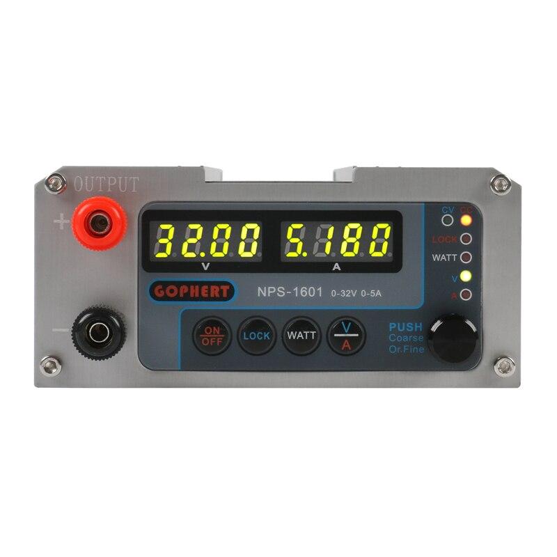 2019 NPS-1601 New Version Laboratory DIY Adjustable Digital Mini Switch DC Power Supply WATT With Lock Function 32V 30V 15V 5A-1
