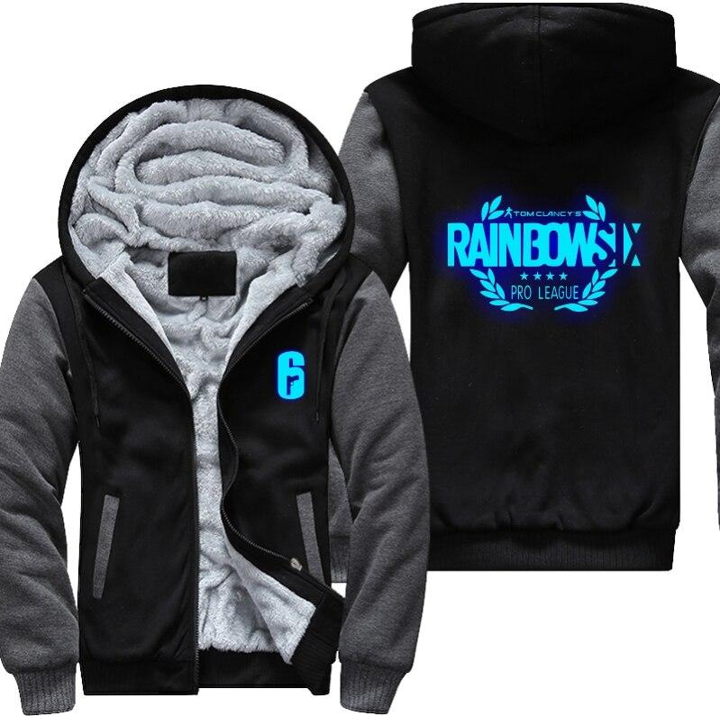 Dropshipping Rainbow Six Siege Winter Coat Game Cosplay For Men Hoodies Thicken Coat Fleece Sweatshirts Cotton Jacket