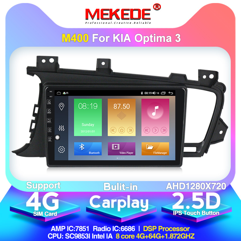 MEKEDE Android 10 IPS DSP Car Radio Multimedia Player For Kia K5 Optima 2011-2015 GPS Navigation support Carplay 4G SIM card image