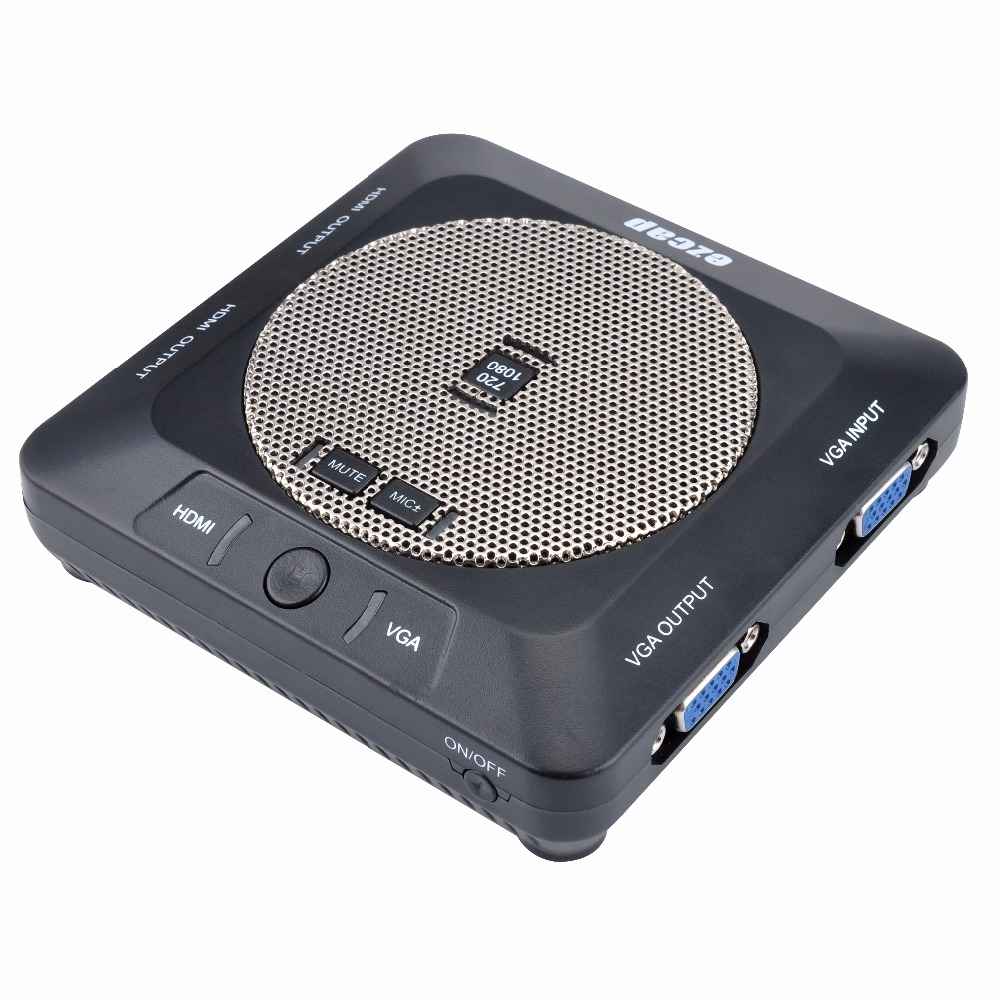 EZCAP289 New 1080P HD Video Lessons Lecture Capture/Recorder Card  HDMI/VGA Input Output Video Conference Recorder Built in Mic 3