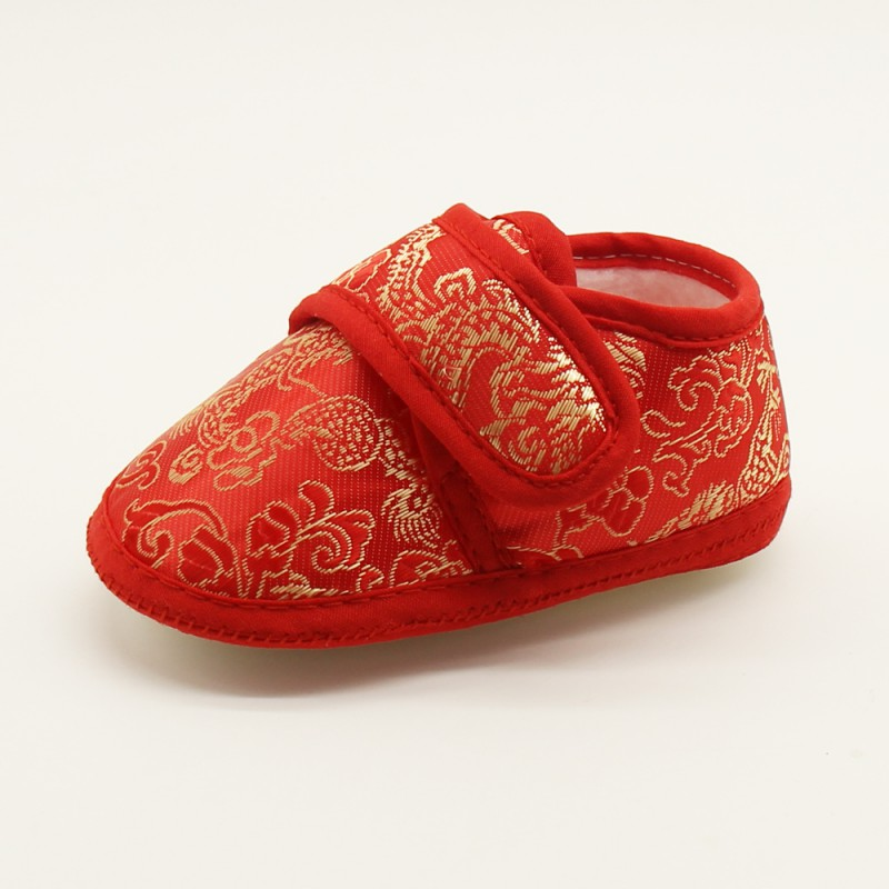 0-18M Classic Chinese Wind Baby Soft Foot School Shoes Baby Newborn Prewalker Kids Boy Girls Toddler Shoes