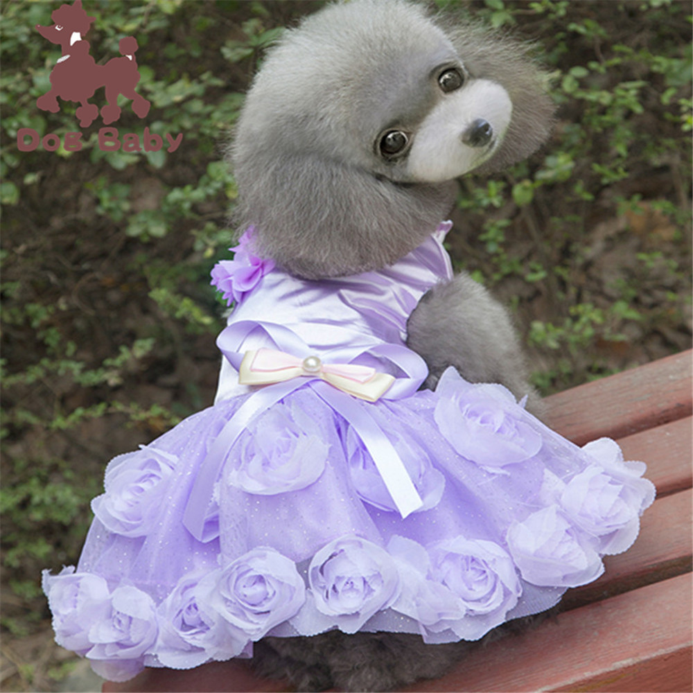 Dog Clothes, Pet Clothes, Pet Skirts, Pet Products, Popular Rose Dress Dresses Christmas Dog Clothes  Clothes for Doggies