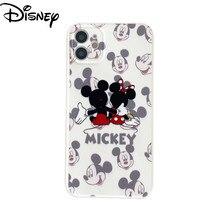 Disney mickey minnie para iphone12/11promax caso do telefone móvel dos desenhos animados caso do telefone móvel para o iphone 11 caso do telefone móvel