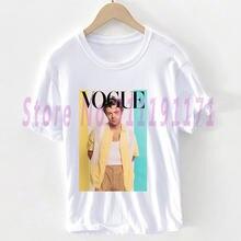 Vogue розовый любовь на тур harry styles» футболка в стиле унисекс