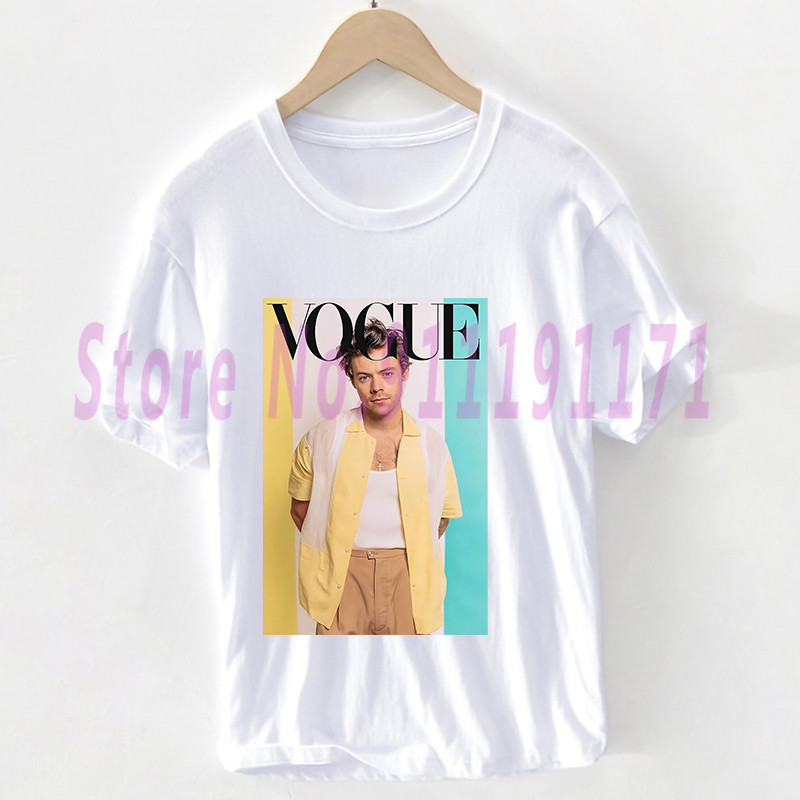 Vogue Pink Love On Tour Harry Styles t shirt Unisex Harajuku Personal photo Watermelon sugar graphic Tops 100% Cotton Pluse Size