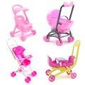 Детская коляска для кукол кукольный домик Барби аксессуары для мебели детская тележка коляска детская модель Кукольный домик для девочек И...