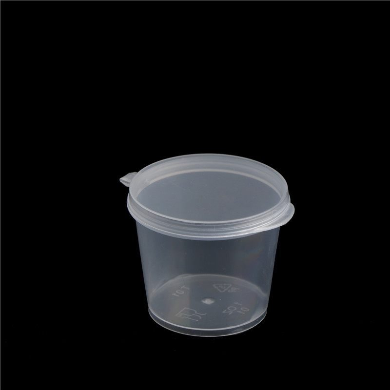 100 Pcs Disposable Plastic Small Sauce Cups Convenient and Affordable Food Storage Transparent Packaging Boxes & Lids
