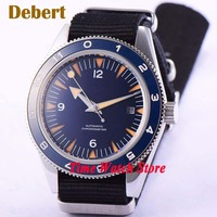 41mm Debert Miyota 8215 Black sterial dial Sapphire Glass black ceramic bezel nylon strap Automatic men's watch DE11